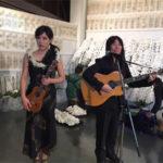 音楽葬の事例(ハワイアンの生演奏)