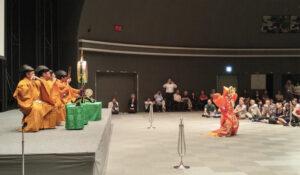 国際学会での舞楽「陵王」